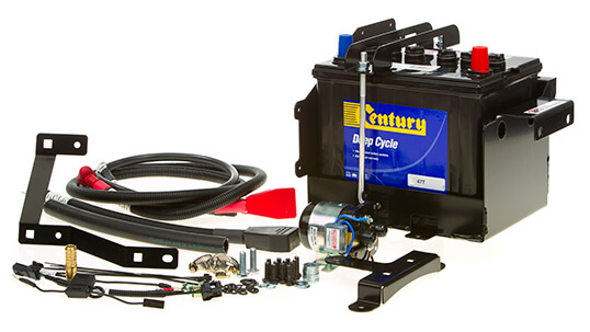 Battery System Is In And Main System Consists Of An Arb Dual Battery