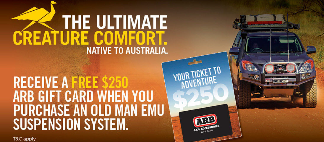 Free $250 ARB Gift Card with any OME purchase