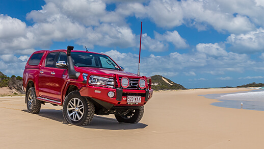 Hilux on Off Road 4x4 Jeep