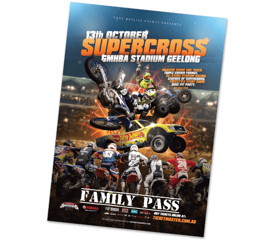 <center>Win a family pass to the Supercross!</center>
