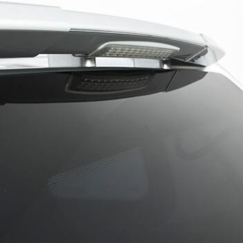 Rear mounted spoiler <br>with LED brake light